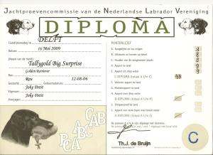 Lasse jachtdiploma C 16-5-2009